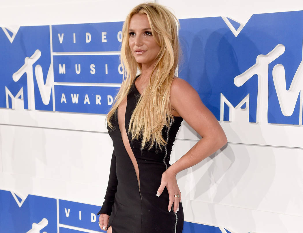 Britney Spears arrives at the 2016 MTV Video Music Awards at Madison Square Garden on Sunday, Aug. 28, 2016, in New York. (Kevin Mazur/Getty Images)