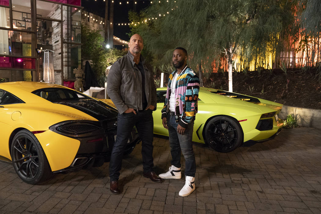 "Dwayne Johnson, left, and John David Washington star in HBO's ""Ballers."" (Jeff Daly/HBO)"