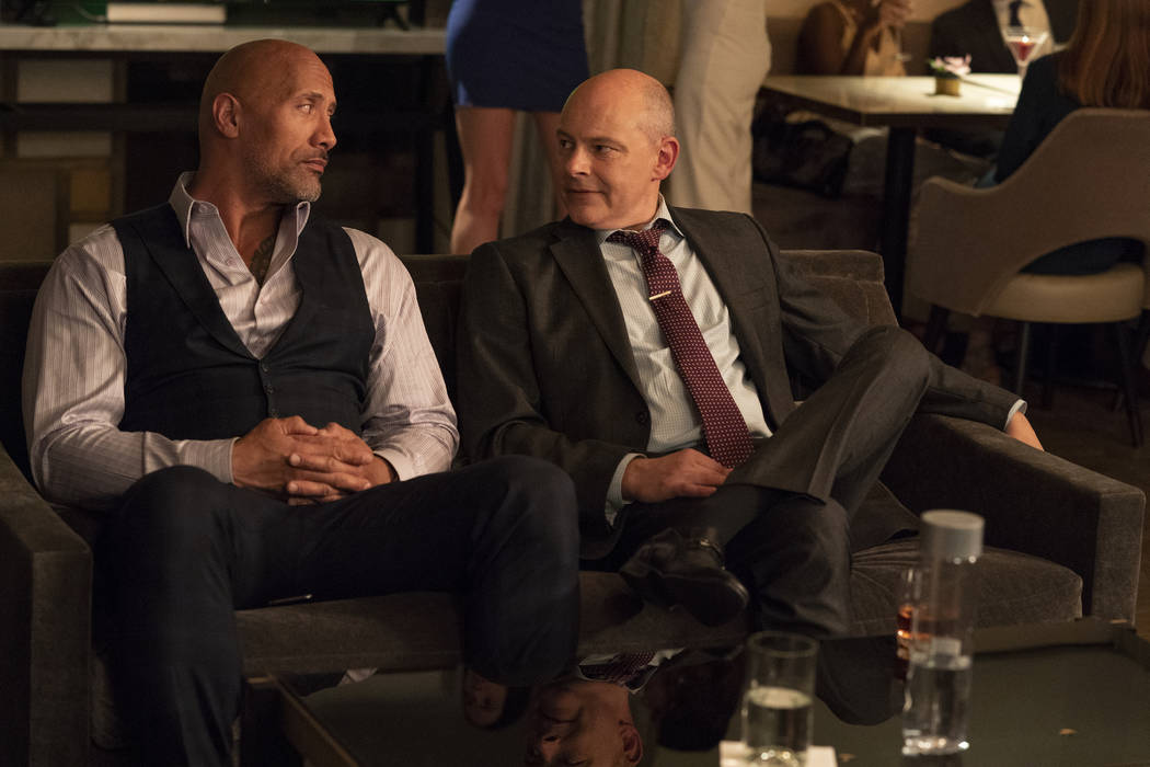 "Dwayne Johnson, left, and Rob Corddry star in HBO's ""Ballers."" (Jeff Daly/HBO)"