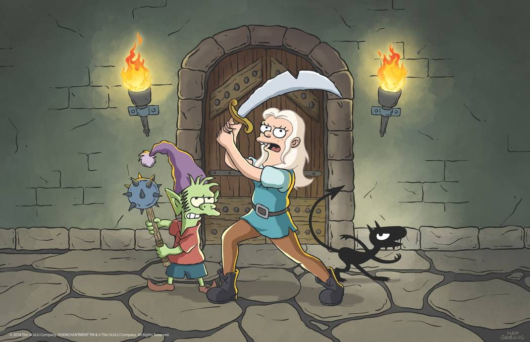 "The adult animated comedy fantasy series ""Disenchantment"" debuts Friday. (Netflix)"