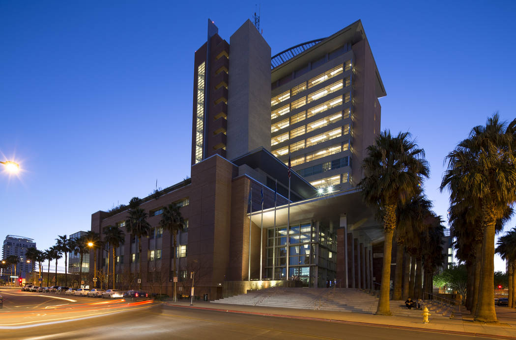 The Regional Justice Center in downtown Las Vegas. Richard Brian Las Vegas Review-Journal @vegasphotograph