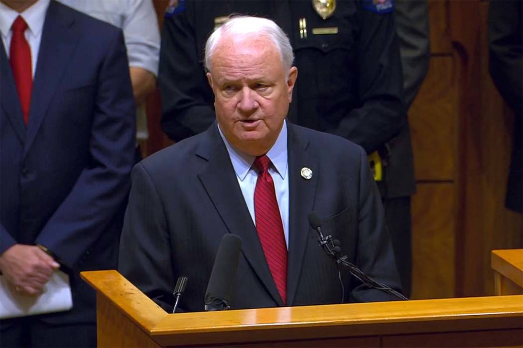 Peter Weir, the district attorney in Jefferson County, Colorado, addresses the public about Nevada inmate Alex Christopher Ewing, whose DNA evidence links him to four Colorado killing in the 1980s ...
