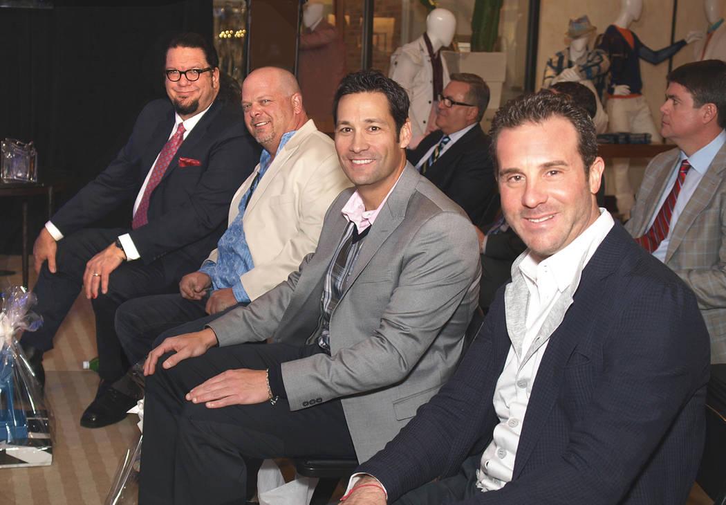 From left, Penn Jillette, Rick Harrison, Jason Feinberg and Todd DuBoef.