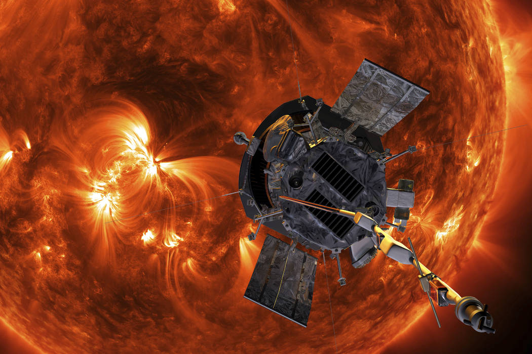 An artist's rendering of the Parker Solar Probe approaching the Sun. It's designed to take solar punishment like never before, thanks to its revolutionary heat shield that's capable of withstand ...