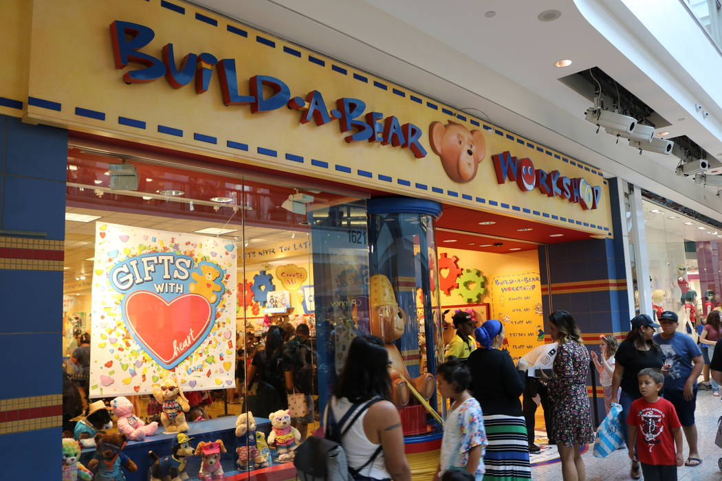 The Build-A-Bear store at Galleria Mall in Henderson in July 2018. (Janna Karel Las Vegas Review-Journal)