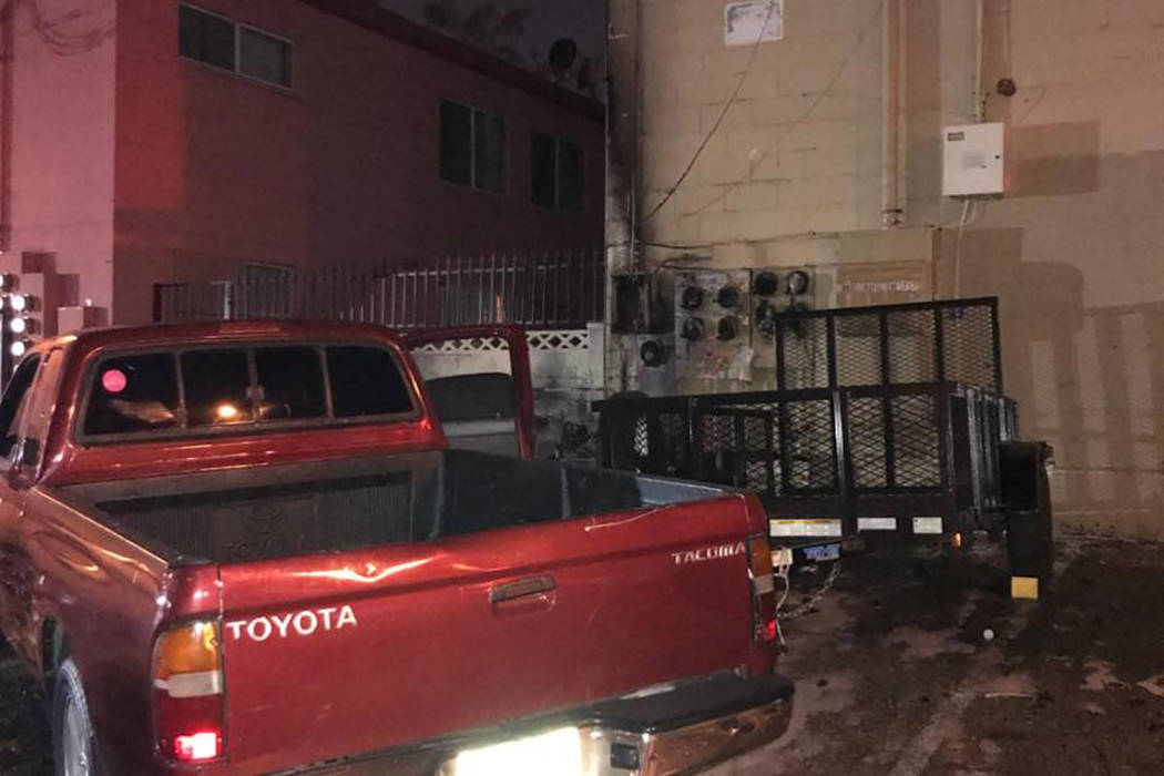 The Clark County Fire Department is investigating a fire that displaced 19 people, including three child, around 3 a.m. on Saturday, August 11, 2018. (Clark County Fire Department)