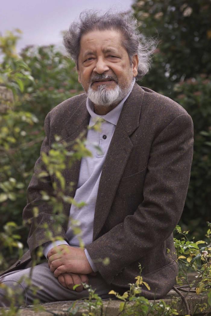 British author V.S. Naipaul in Salisbury, England in 2001. (Chris Ison/PA via AP)