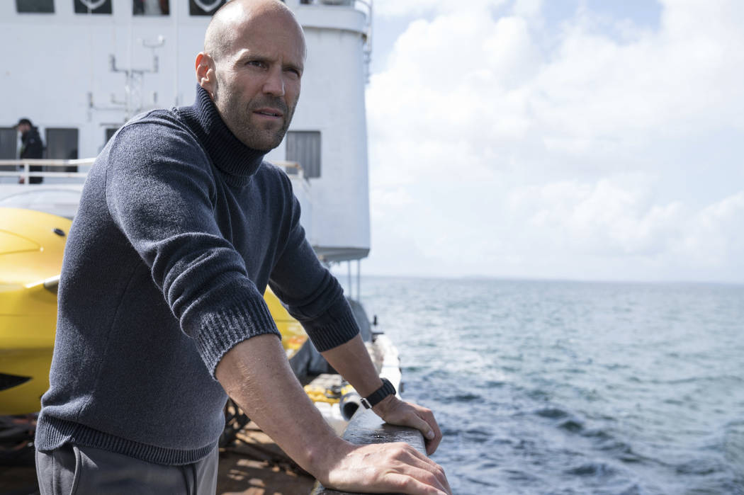 """Jason Statham in a scene from the film, """"The Meg."""" The shark thriller """"The Meg"""" became the latest success in Hollywood's sizzling summer, opening well above expectations with $44.5 million i ..."""