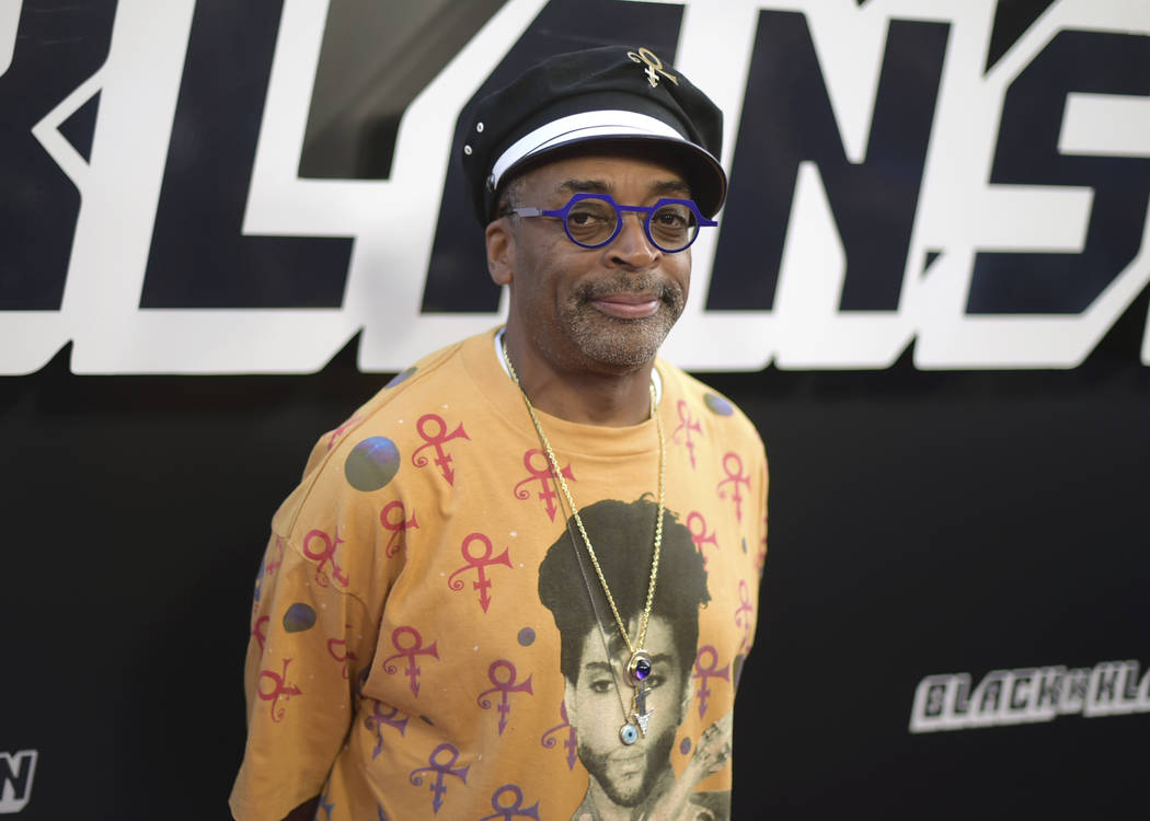 """Spike Lee arrives at the premiere of """"BlacKkKlansman"""" on Wednesday, Aug. 8, 2018, at the Samuel Goldwyn Theater in Beverly Hills, Calif. (Photo by Richard Shotwell/Invision/AP)"""