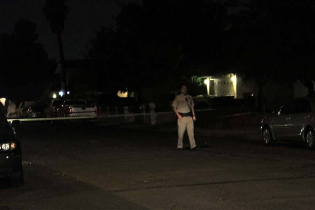 A man, woman and their four children were sleeping about 4:20 a.m. Monday, Aug. 13, 2018, when someone opened fire on their home on the 3900 block of Manford Court. (Max Michor/Las Vegas Review-Jo ...