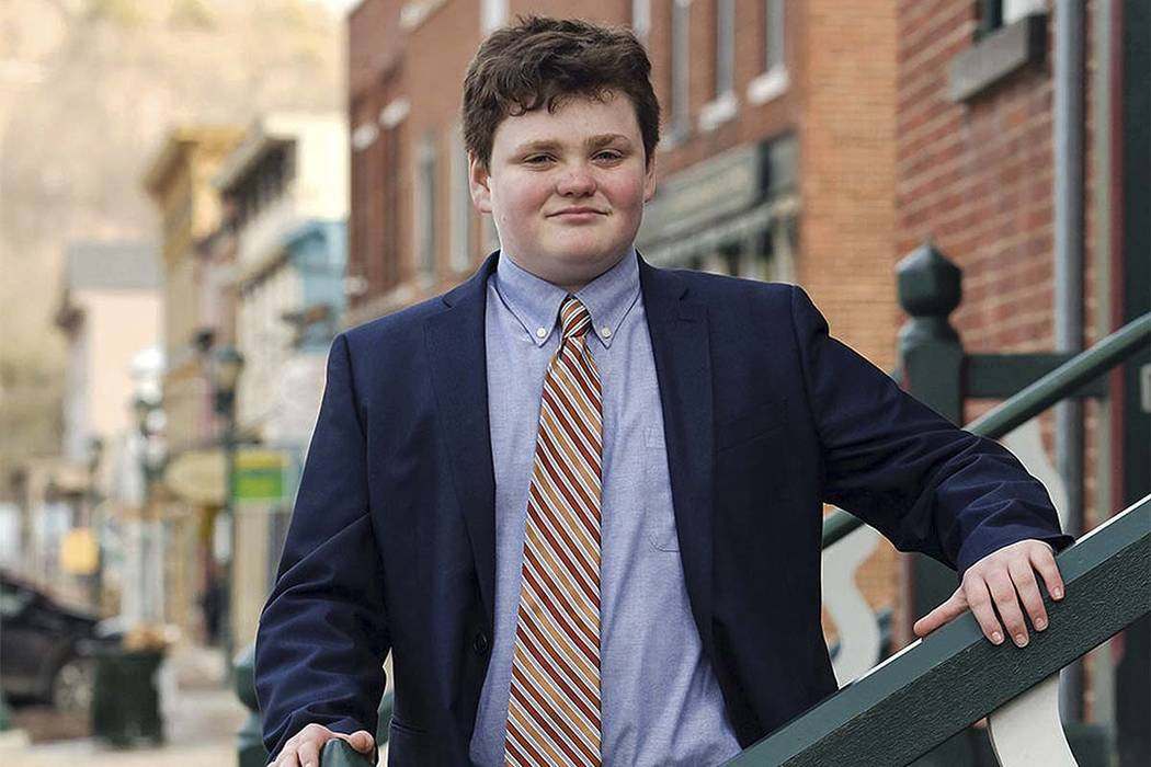 Ethan Sonneborn, 14, is one of the four Vermont Democrats seeking the party nomination to run for governor in the Tuesday, Aug. 14, 2018, primary election. (Buzz Kuhns/Ethan 2018 Campaign via AP)