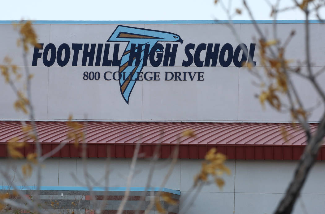 A Foothill High School student will face charges of making a terroristic threat as the 2018-19 year kicked off on Monday, Aug. 13, 2018. (Bizuayehu Tesfaye/Las Vegas Review-Journal) @bizutesfaye