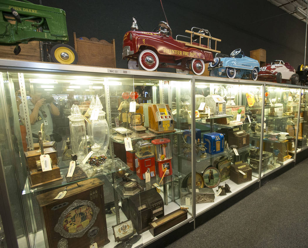 Vintage memorabilia on display at the Morphy Auctions warehouse located at 4520 Arville Street in Las Vegas on Thursday, Aug. 16, 2018. Richard Brian Las Vegas Review-Journal @vegasphotograph