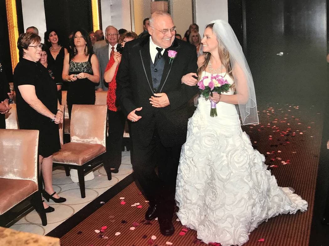 Peter Mansky walks his daughter, Shauna Mansky, down the aisle (Family photo).