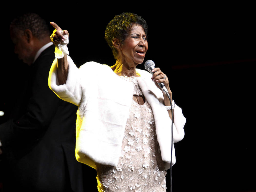 FILE - In this Nov. 7, 2017 file photo, Aretha Franklin attends the Elton John AIDS Foundation's 25th Anniversary Gala in New York. Franklin died Thursday, Aug. 16, 2018 at her home in Detroit. ...