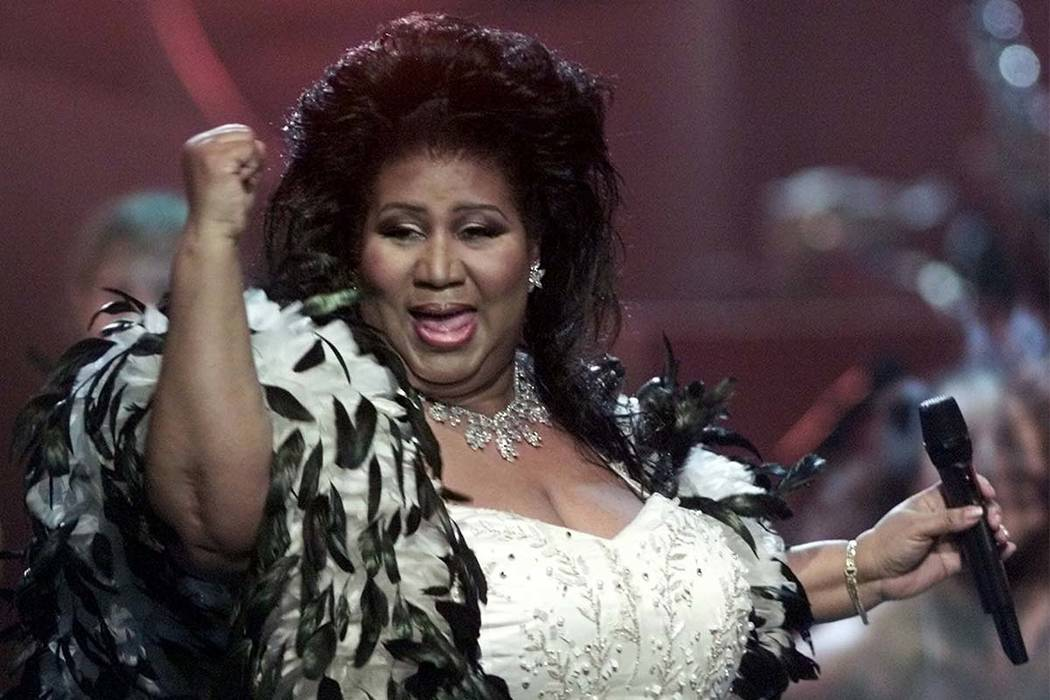 "Aretha Franklin the ""Queen of Soul,"" performs during the ""VH1 Divas 2001: The One and Only Aretha Franklin"" tribute in New York in 2001. (Suzanne Plunkett/AP)"