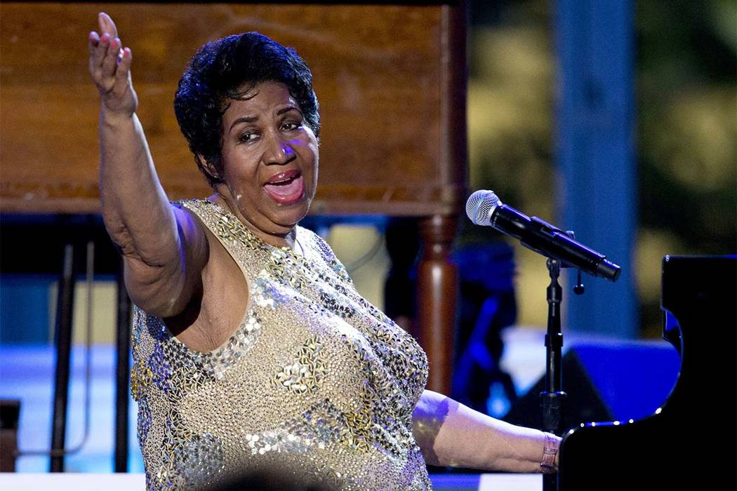In this April 29, 2016 file photo, Aretha Franklin performs at the International Jazz Day Concert on the South Lawn of the White House of the Washington. (Carolyn Kaster/AP)