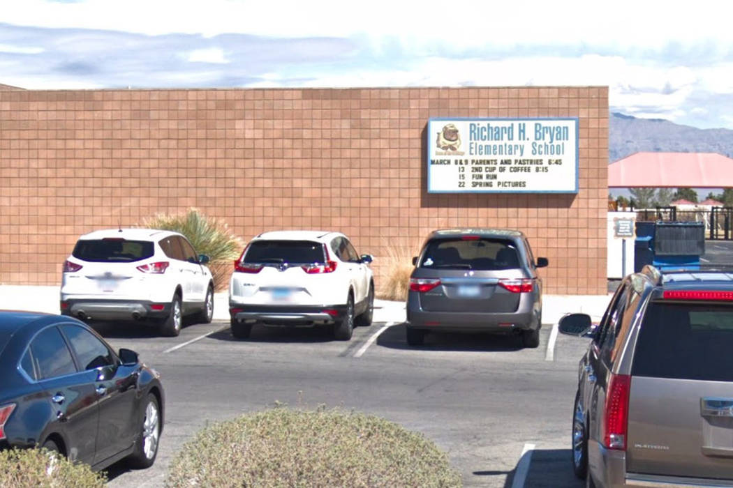 An adult male approached three Richard Bryan Elementary School students Tuesday morning and attempted to lure them into his car, the school reported. (Google Street View)