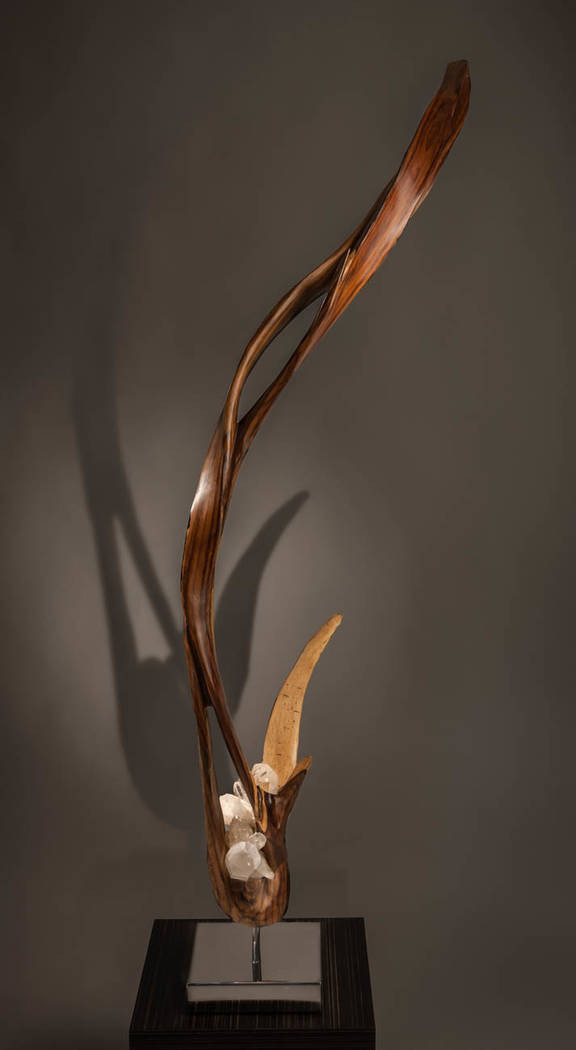 "Local sculptor Dorit Schwartz's ""The Light Within"" is a collection of crystal and wood sculptures that were inspired by Mother Nature. (Dorit Schwartz)"