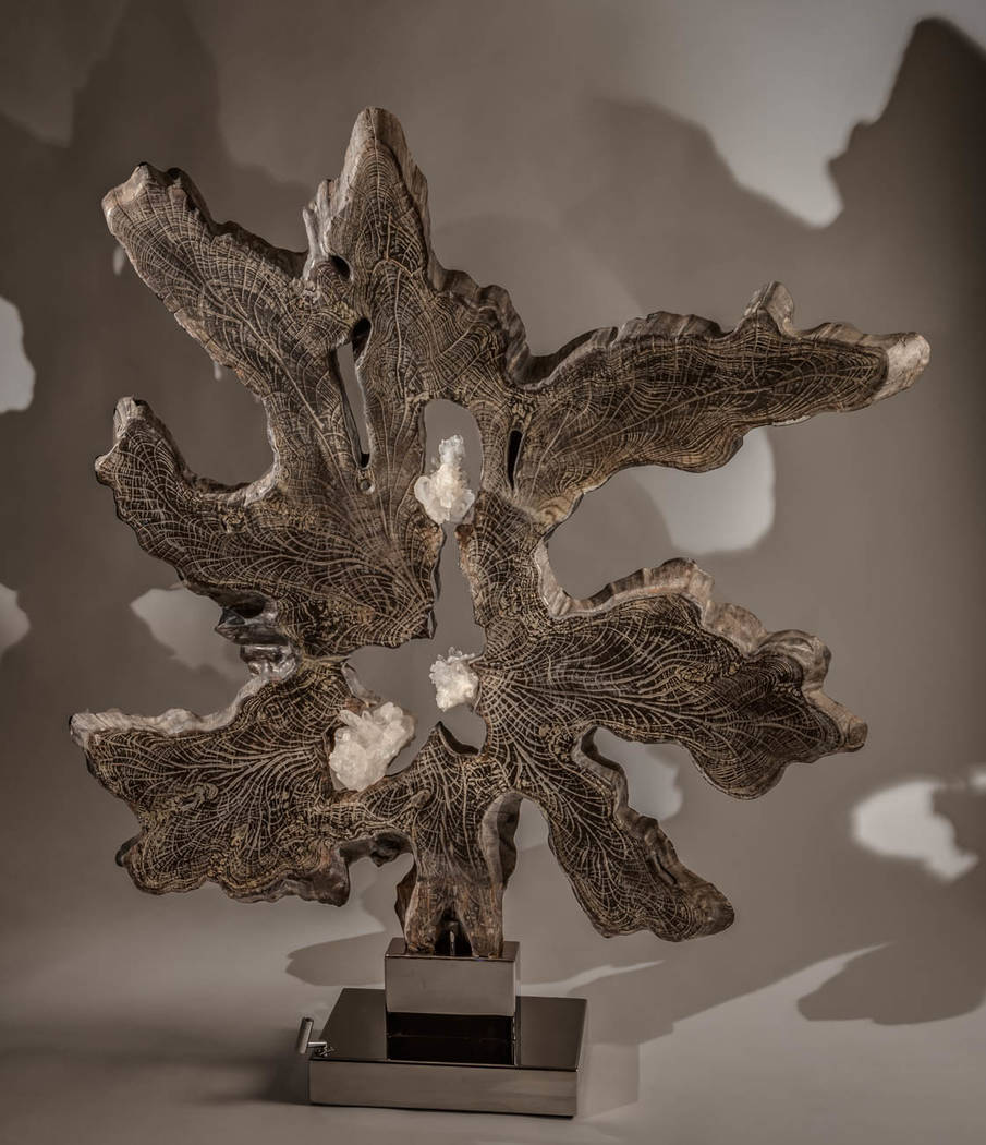 Dorit Schwartz's crystal and wood sculptures will be showcased at Ascaya's clubhouse. (Dorit Schwartz)