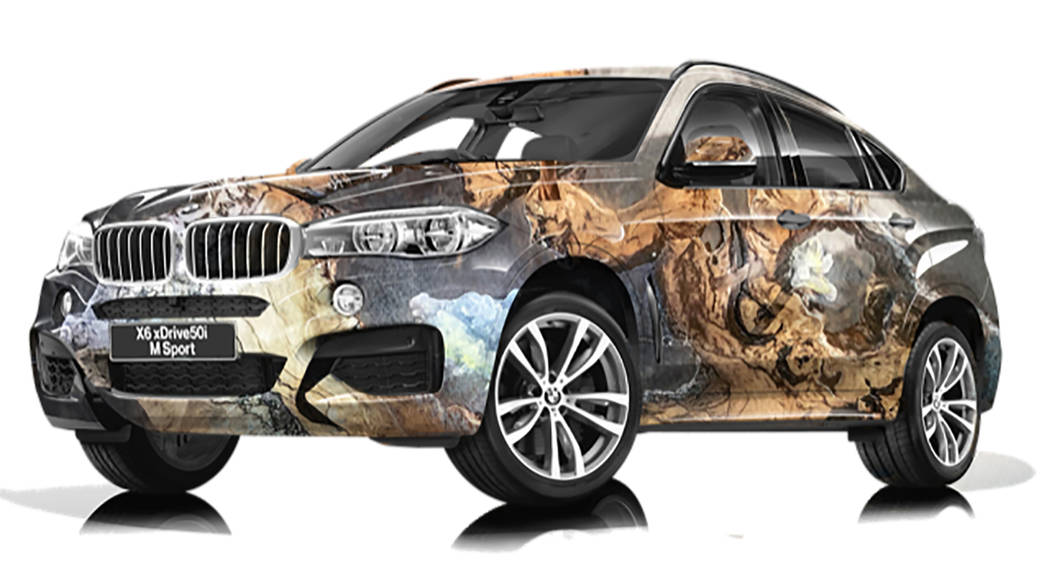 Dorit Schwartz' work is internationally known, and she is one of 12 artists selected for an upcoming Art & BMW showing at the Osaka BMW showroom in Japan. Her BMW Art Car will debut Aug. 30. (BMW)