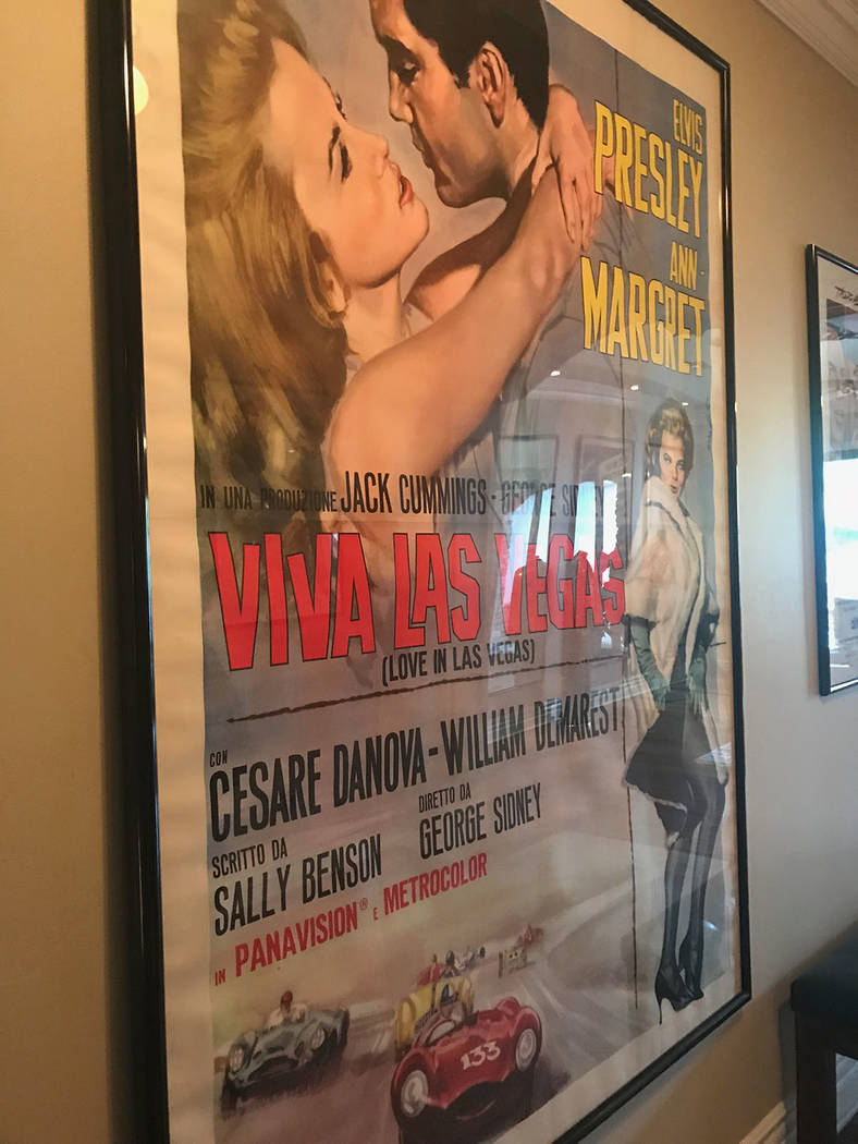 Debbie Reynold's son, Todd Fisher, has a lot of movie posters in his Las Vegas home. (Tonya Harvey Real Estate Millions)