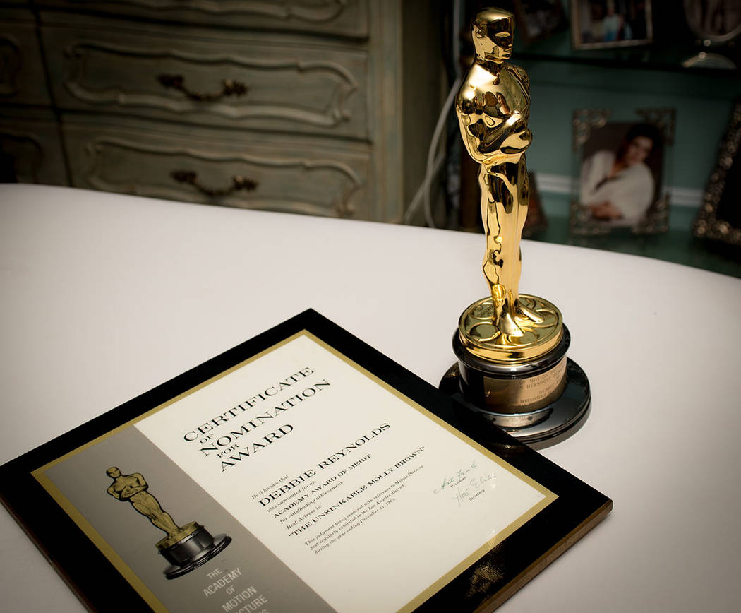Debbie Reynolds' Academy Award. (Tonya Harvey Real Estate Millions)