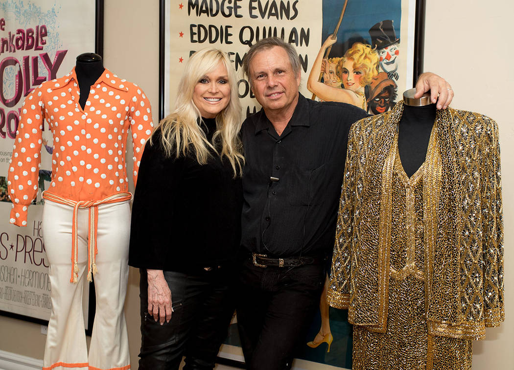 In their home, Catherine Hickland and Todd Fisher have displayed costumes that his mother and sister wore onstage. (Tonya Harvey Real Estate Millions)