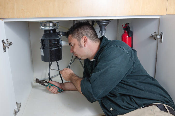 If you have recently had a new disposal installed, the installer may not have removed the knock-out plug that allows the discharge to pass through. This will cause the discharge to back up and out ...