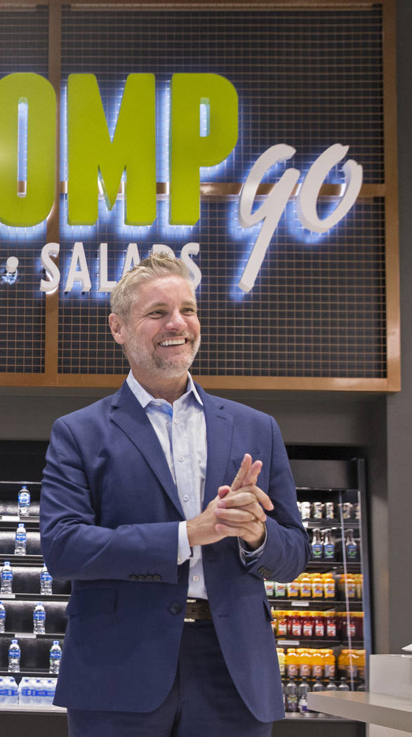 Centerplate vice president Richard Ginzel discusses updates to Aces restaurant on Thursday, Aug., 9, 2018, at the Las Vegas Convention Center, in Las Vegas. Benjamin Hager Las Vegas Review-Journal ...