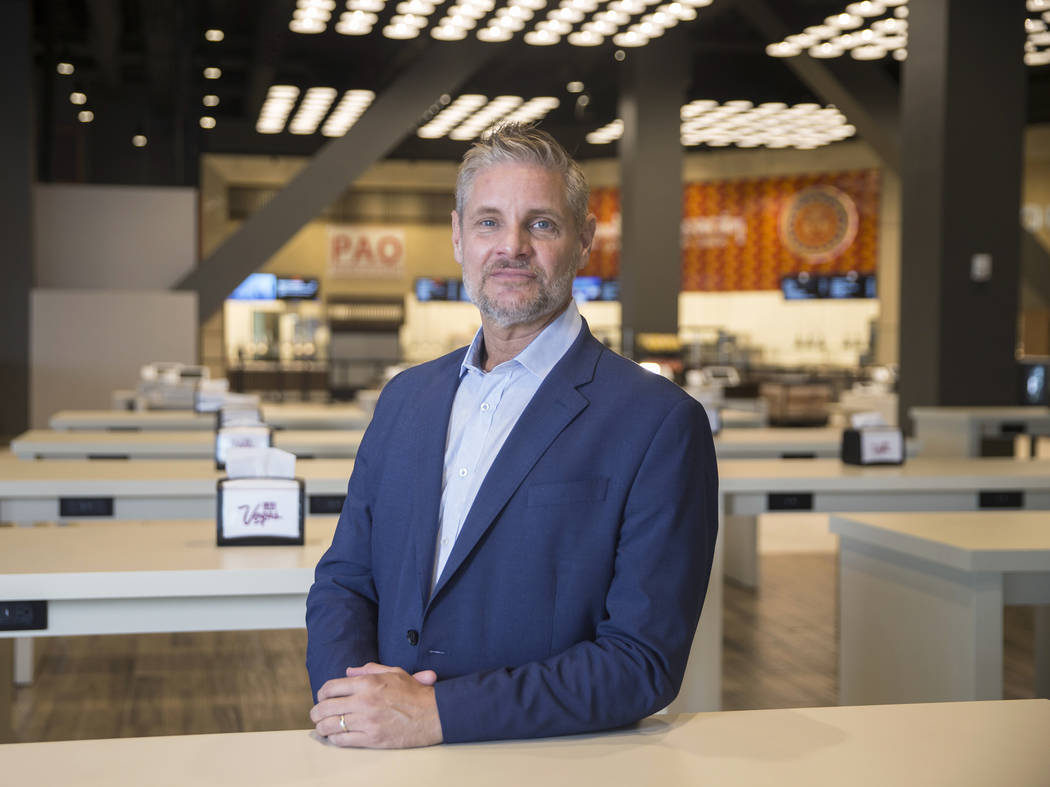 Centerplate vice president Richard Ginzel at Aces restaurant on Thursday, Aug., 9, 2018, at the Las Vegas Convention Center, in Las Vegas. Benjamin Hager Las Vegas Review-Journal @benjaminhphoto