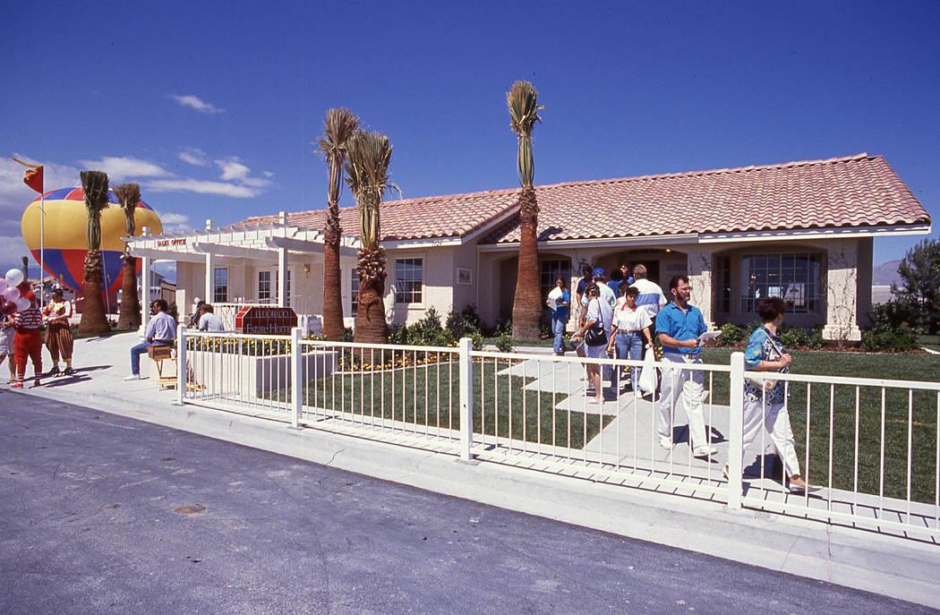 Pardee Homes' Eldorado in North Las Vegas held its grand opening in April 1990. (Pardee Homes)