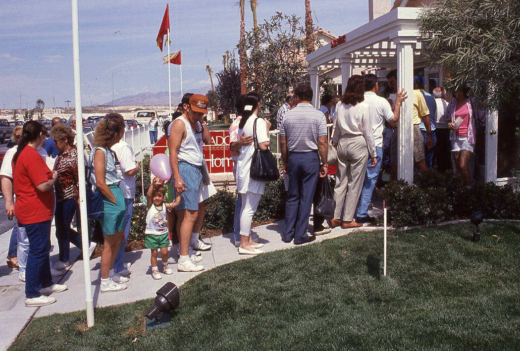 Eldorado's grand opening in 1990 drew a large crowd of homebuyers at the start of the Las Vegas housing boom. (Pardee Homes)