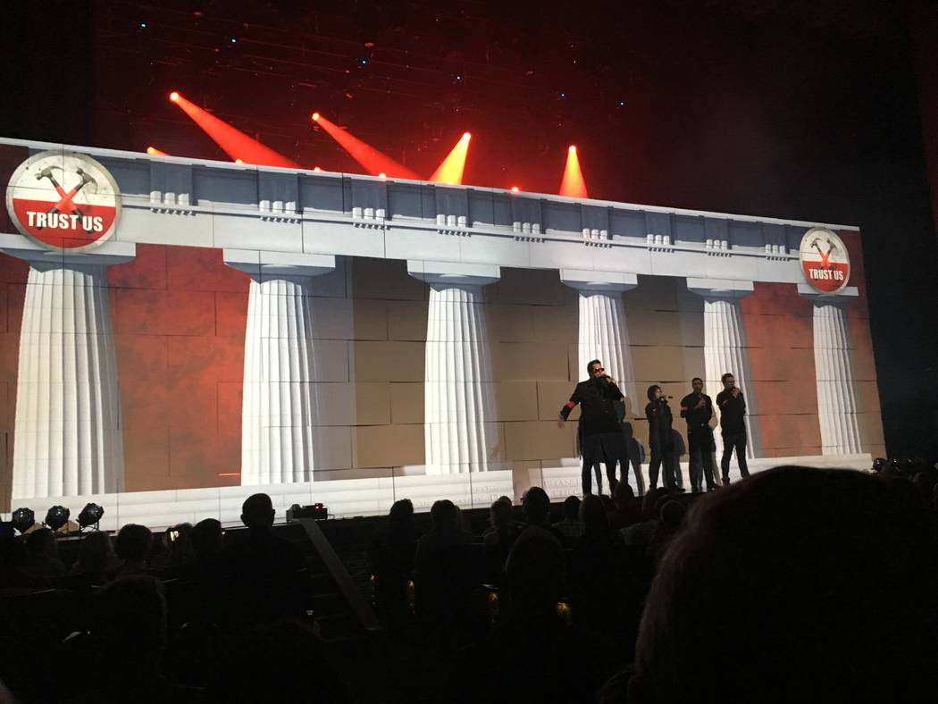 """A scene from Brody Dolyniuk's """"Pink Floyd's The Wall"""" at Reynolds Hall at the Smith Center on Friday, April 7, 2017. (John Katsilometes/Las Vegas Review-Journal). @JohnnyKats"""