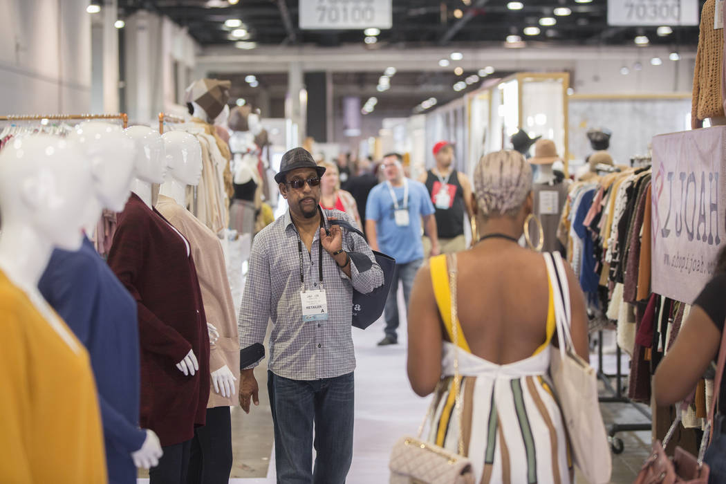MAGIC attendees walk the convention floor on Wednesday, Aug. 15, 2018, at the Las Vegas Convention Center, in Las Vegas. Benjamin Hager Las Vegas Review-Journal @benjaminhphoto