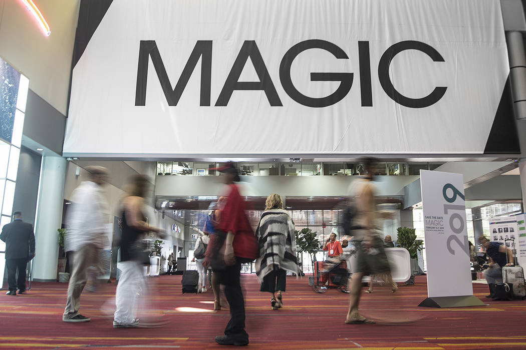 MAGIC attendees walk the convention floor in the south hall on Wednesday, Aug. 15, 2018, at the Las Vegas Convention Center, in Las Vegas. Benjamin Hager Las Vegas Review-Journal @benjaminhphoto