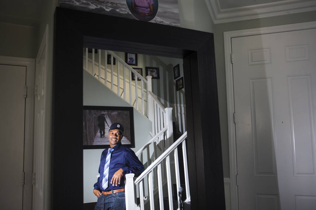 Deon Derrico at his home in North Las Vegas on Wednesday, Aug. 15, 2018. Chase Stevens Las Vegas Review-Journal @csstevensphoto
