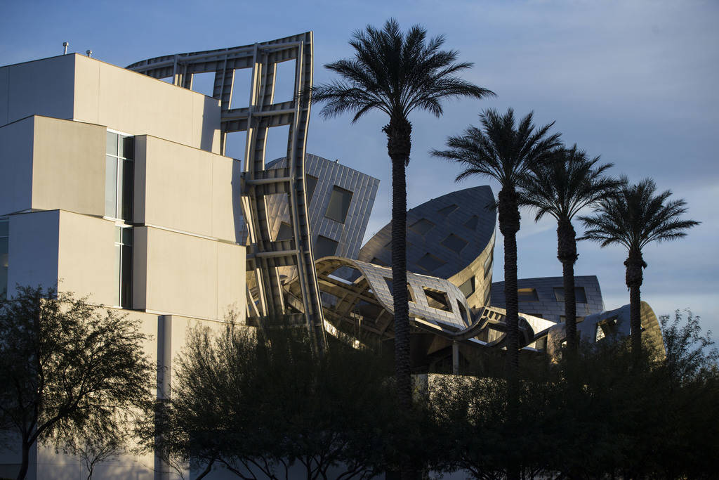 The Cleveland Clinic Lou Ruvo Center for Brain Health, designed by architect Frank Gehry, in Las Vegas on Tuesday, Jan. 30, 2018. Chase Stevens Las Vegas Review-Journal @csstevensphoto