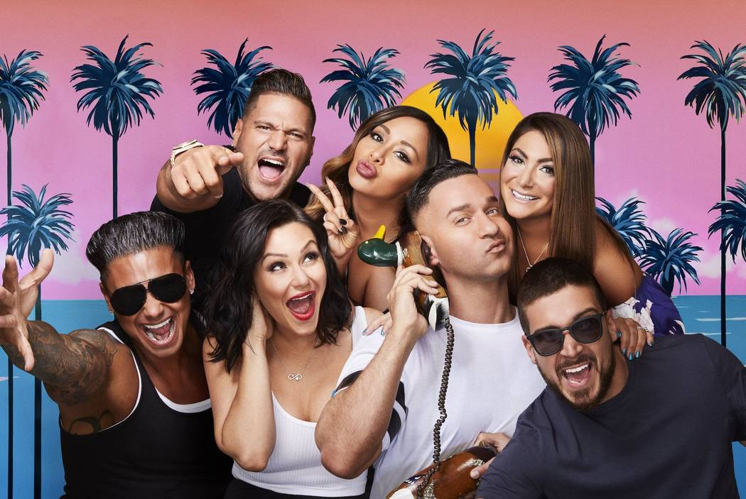 "The cast of ""Jersey Shore Family Vacation"" (MTV)"