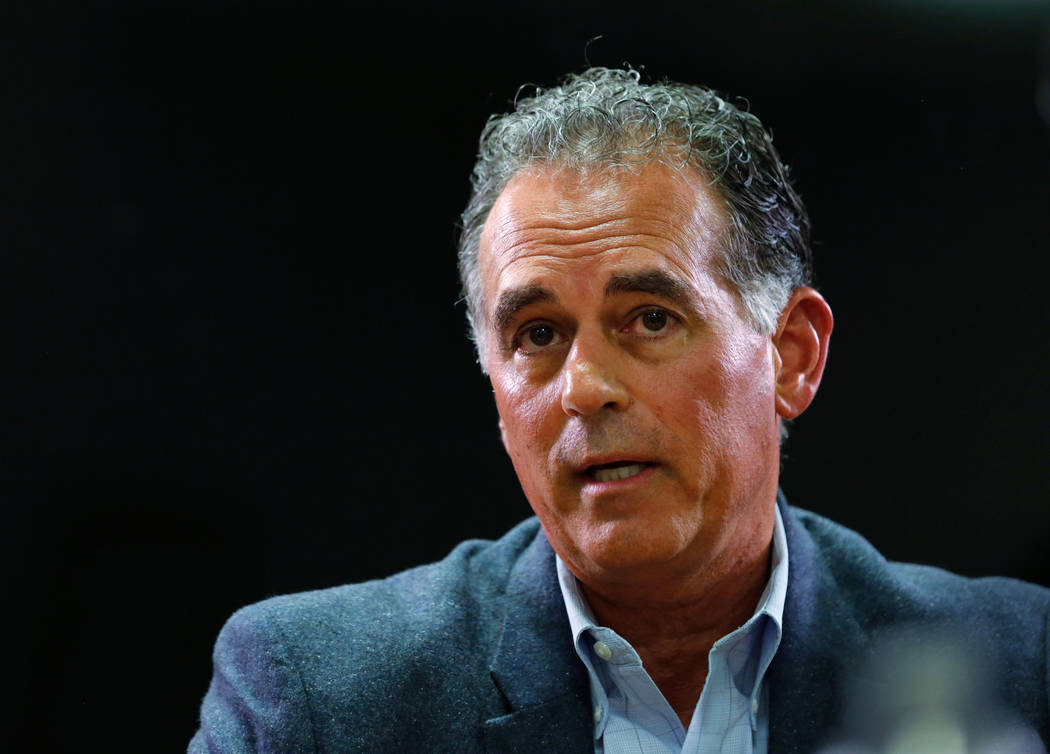Danny Tarkanian, Republican candidate for the 3rd Congressional District, speaks during the Las Vegas Review-Journal Reader Panel at the RJ in Las Vegas, Wednesday, Aug. 15, 2018. Chitose Suzuki L ...