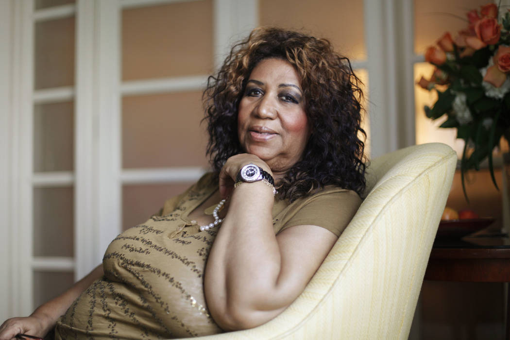 Soul singer Aretha Franklin poses for a portrait in Philadelphia, July 26, 2010. Franklin died Thursday, Aug. 16, 2018 at her home in Detroit. She was 76. (Matt Rourke/AP, File)