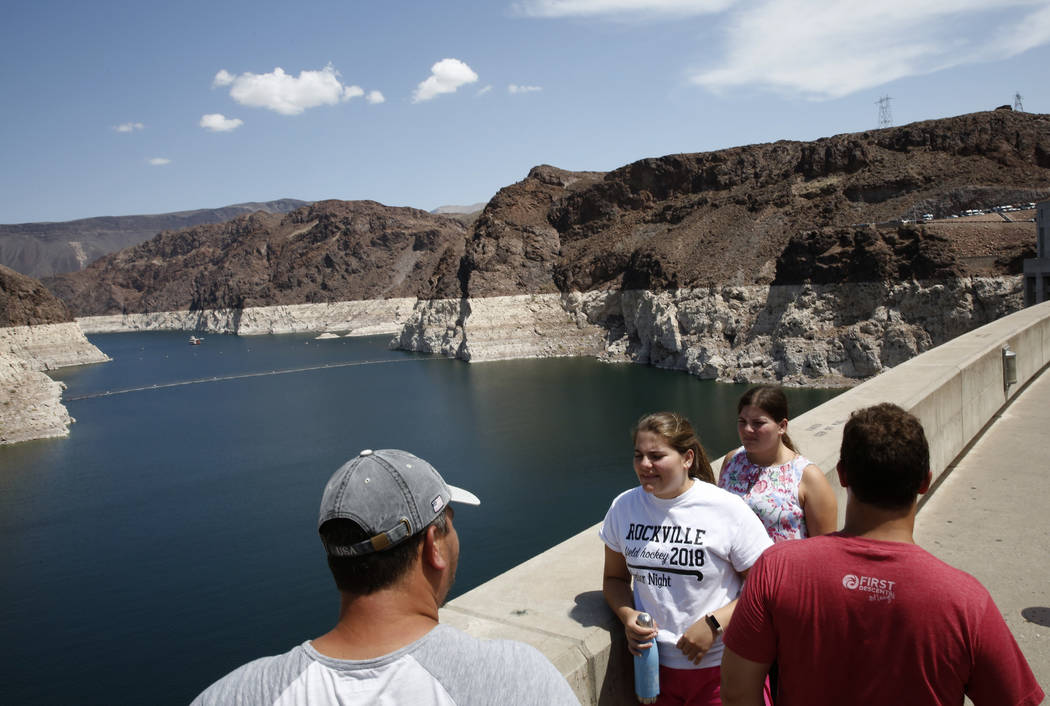 Tourists visit the Hoover Dam on Thursday, Aug. 16, 2018, in Las Vegas. Bizuayehu Tesfaye/Las Vegas Review-Journal @bizutesfaye