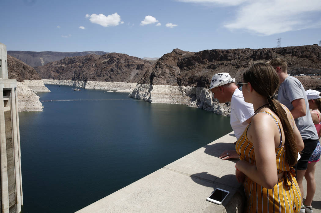 Tourists the visit Hoover Dam on Thursday, Aug. 16, 2018, in Las Vegas. Bizuayehu Tesfaye/Las Vegas Review-Journal @bizutesfaye