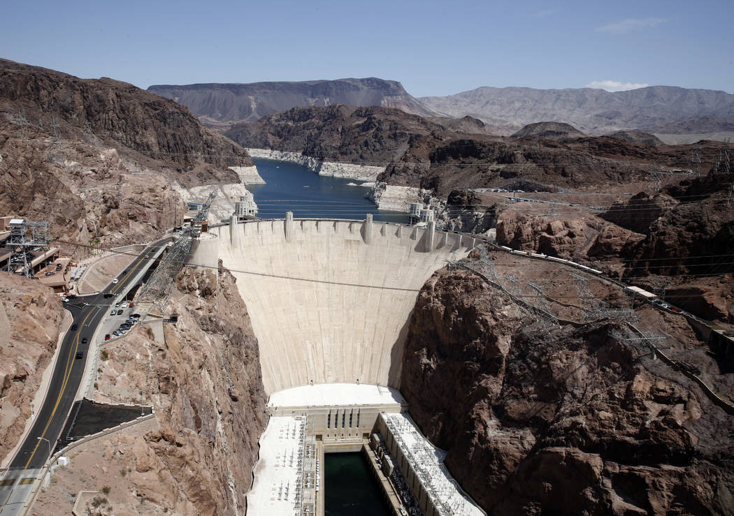 The Hoover Dam photographed on Thursday, Aug. 16, 2018, in Las Vegas. Bizuayehu Tesfaye/Las Vegas Review-Journal @bizutesfaye