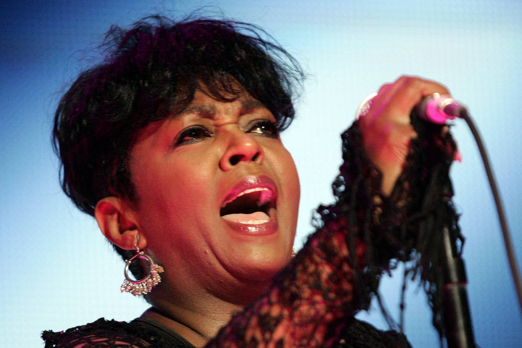 Anita Baker performs during the Essence Music Festival at the Louisiana Superdome in New Orleans, Saturday, July 4, 2009. (AP Photo/Patrick Semansky)