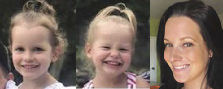 From left, Bella Watts, Celeste Watts and Shanann Watts. (The Colorado Bureau of Investigation via AP)
