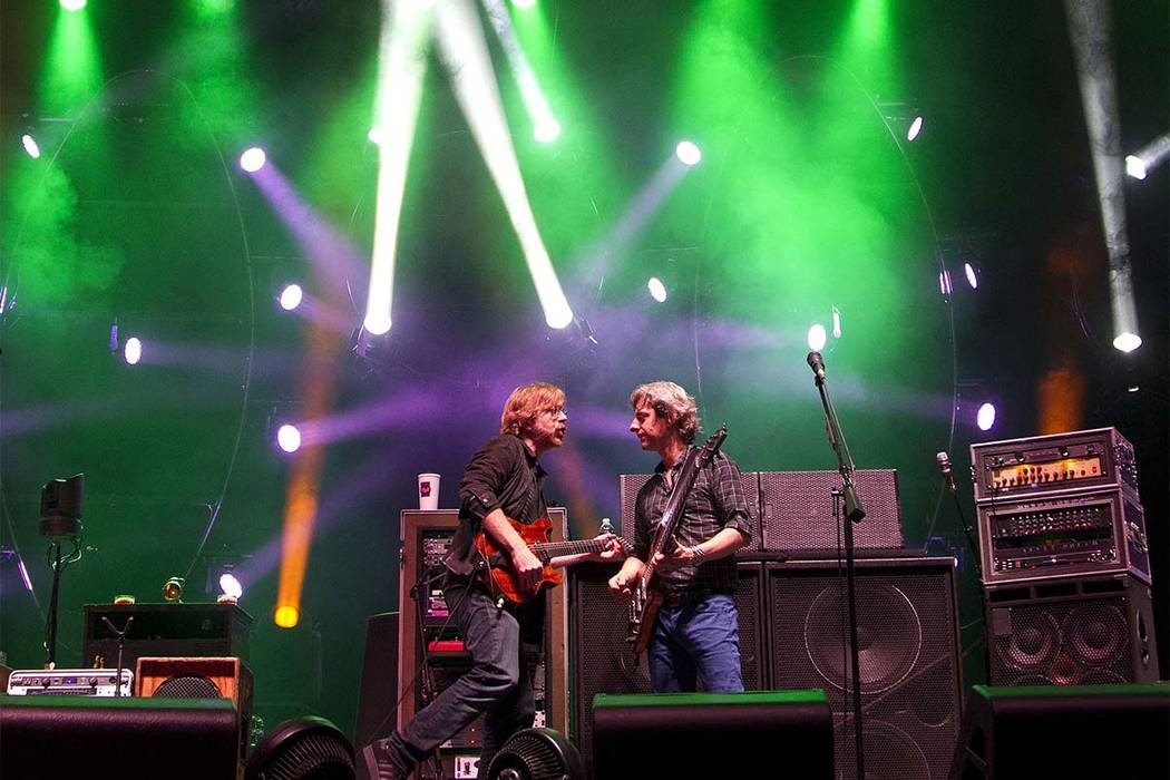 In this June 10, 2012 file photo, Phish performs at Bonnaroo Music and Arts Festival in Manchester, Tennessee. (Dave Martin/AP filr)