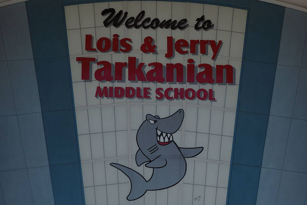 Tarkanian Middle School, 5800 W. Pyle Ave, on Tuesday, Nov. 8, 2016. (Jerry Henkel/Las Vegas Review-Journal)
