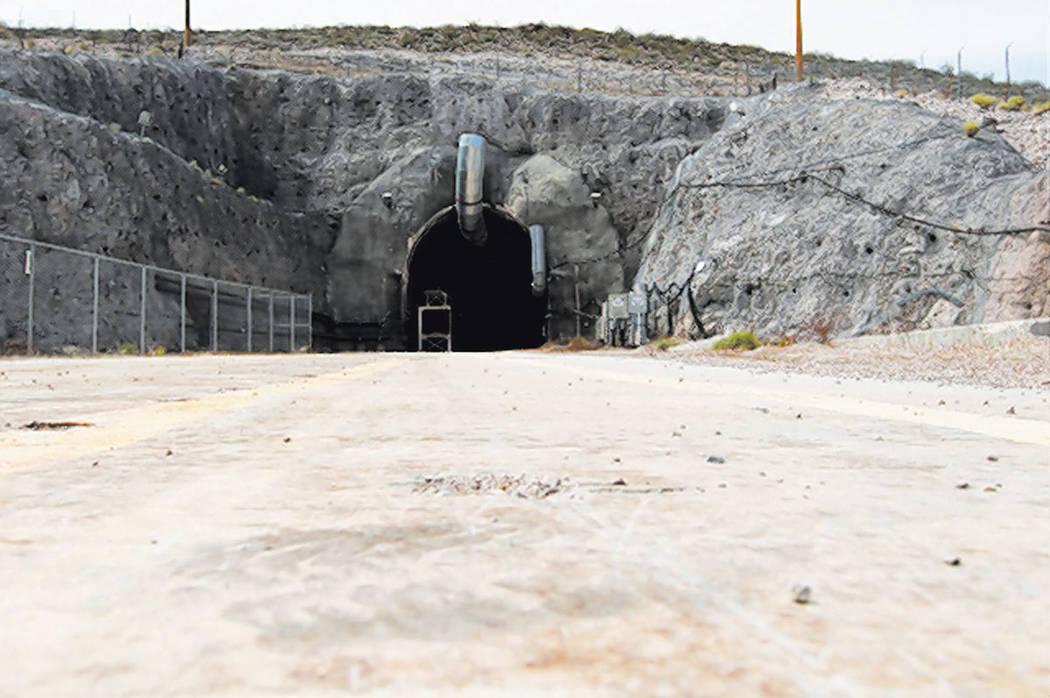 The north portal of the Yucca Mountain exploratory tunnel is seen Thursday, April 9, 2015. (Sam Morris/Las Vegas Review-Journal) Follow Sam Morris on Twitter @sammorrisRJ