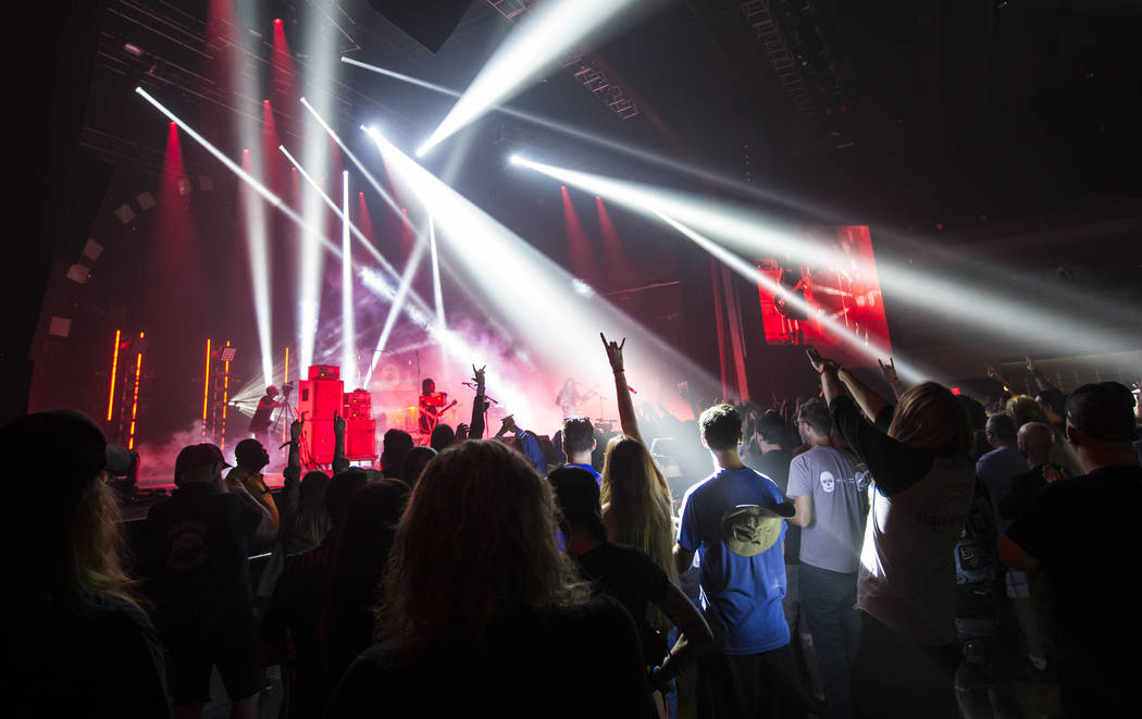 Fans cheer as Boris performs at The Joint during the Psycho Las Vegas music festival at the Hard Rock Hotel in Las Vegas on Friday, Aug. 17, 2018. Chase Stevens Las Vegas Review-Journal @csstevens ...